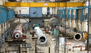 Pressure vessels being assembled in our factory