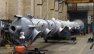 Pressure vessel in production